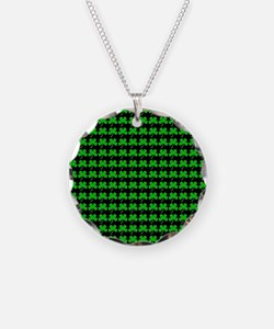Green Shamrocks St. Patricks Necklace