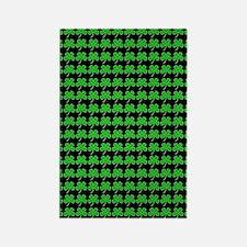 Green Shamrocks St. Patricks Day  Rectangle Magnet