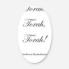 TorahTorahTorah1 Oval Car Magnet