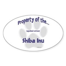 Shiba Inu Property Oval Decal