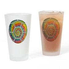 soccer-tiedye-T Drinking Glass