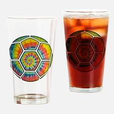 soccer-tiedye-T Drinking Glass