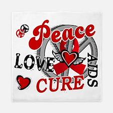 D AIDS Peace Love Cure 2 Queen Duvet