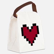 8 Bit Heart Canvas Lunch Bag