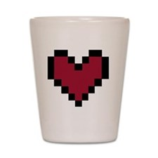 8 Bit Heart Shot Glass