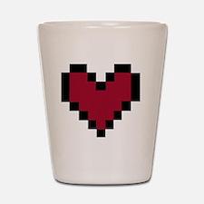 8 Bit Heart Shot Glass