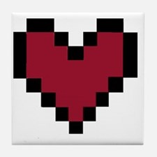 8 Bit Heart Tile Coaster