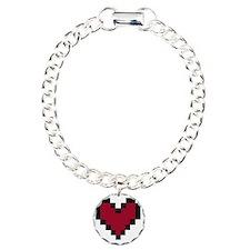 8 Bit Heart Bracelet