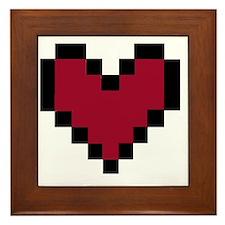 8 Bit Heart Framed Tile