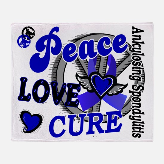 D AS Peace Love Cure 2 Throw Blanket