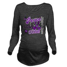 D Alzheimers Peace L Long Sleeve Maternity T-Shirt