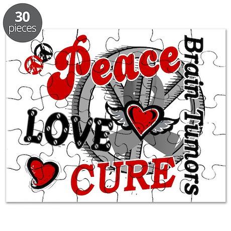 D Brain Tumor Peace Love Cure 2 Puzzle