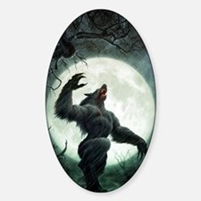 Howl-LargePoster Sticker (Oval)