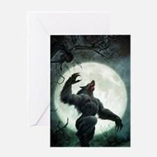 Howl-LargePoster Greeting Card
