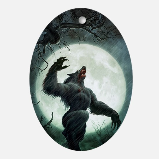 Howl-LargePoster Oval Ornament