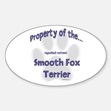 Smooth Fox Property Oval Decal