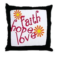 fhl_pink FLAT Throw Pillow