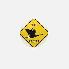crossing-sign-canada-goose-solitary Mini Button