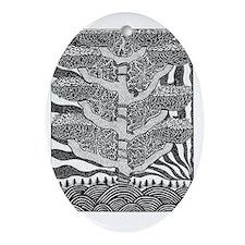 Seeking Tree Oval Ornament