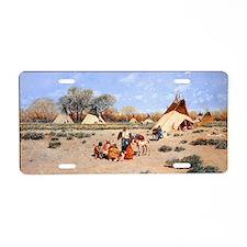 Cheyenne Camp, 1892,  gouac Aluminum License Plate