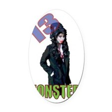 amy-shirt Oval Car Magnet