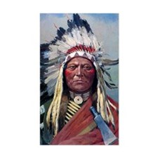 Sitting Bull, 1899, oil on can Decal