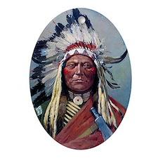 Sitting Bull, 1899, oil on canvas Oval Ornament