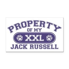 jackrussellproperty Rectangle Car Magnet