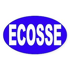 ECOSSE - SCOTLAND Oval Bumper Stickers