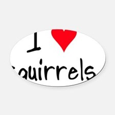 iheartsquirrels Oval Car Magnet