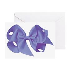 purplebowtransback Greeting Card