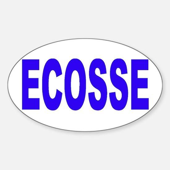 ECOSSE - SCOTLAND Oval Decal