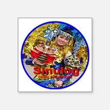 "sinulog_cebu_ph_circle700x7 Square Sticker 3"" x 3"""