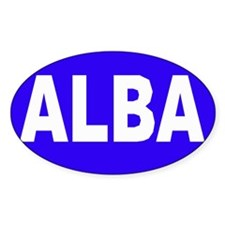 ALBA - SCOTLAND Oval Decal