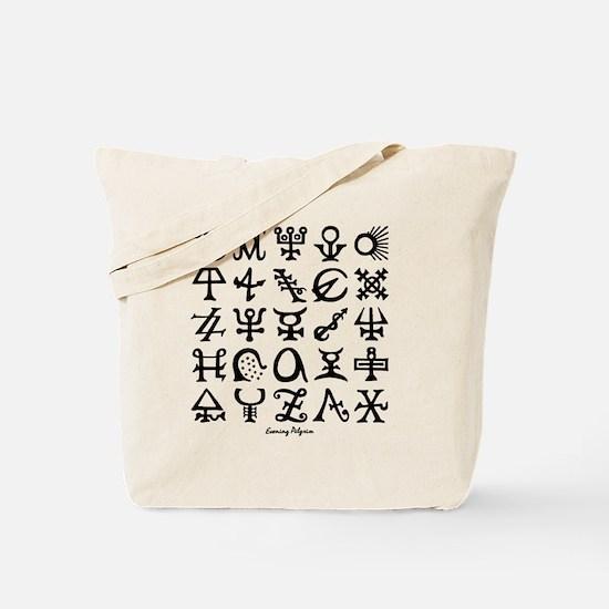 1990_10x10_b Tote Bag