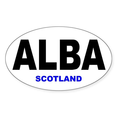 ALBA - SCOTLAND Oval Sticker