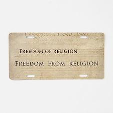 12x20_car magnet - Freedom  Aluminum License Plate