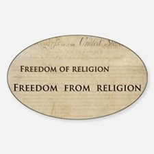 12x20_car magnet - Freedom of relig Decal