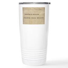 12x20_car magnet - Freedom of r Travel Mug