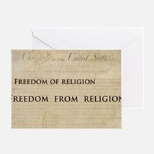 12x20_car magnet - Freedom of religi Greeting Card