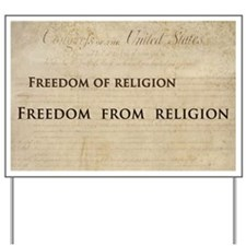 12x20_car magnet - Freedom of religion f Yard Sign