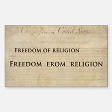 12x20_car magnet - Freedom of  Sticker (Rectangle)