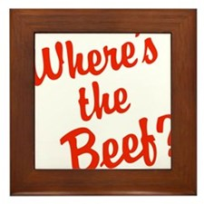 Where's The Beef? Framed Tile