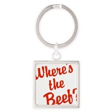 Where's The Beef? Square Keychain