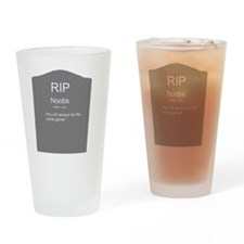 RIP Noobs Drinking Glass