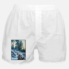 On the Trail in Winter, 1894, gouache Boxer Shorts