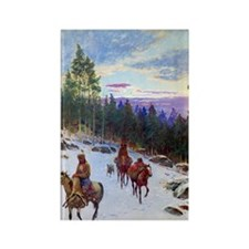 Over the Trail, 1901, gouache on  Rectangle Magnet