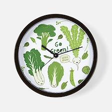 gogreenpattern2 Wall Clock