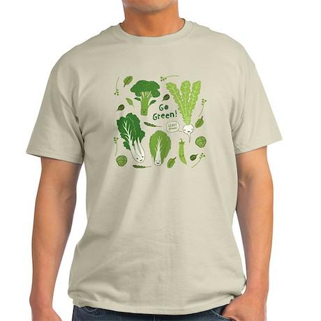 gogreenpattern2 Light T-Shirt