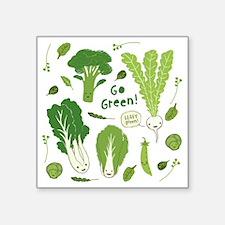 """gogreenpattern2 Square Sticker 3"""" x 3"""""""